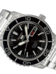 Seiko 41mm Sports 5, 23-Jewel Automatic Watch with Day and Date Window #SNZH55K1