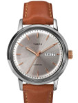 Timex 40mm Marlin 21-Jewel Automatic Watch with Stainless Steel Case and Silver Dial #TW2U11800ZV