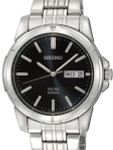 Seiko Core Series Solar Watch with 40mm Stainless Steel Case and Bracelet #SNE093