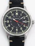Aristo 3H80GMT 42mm Quartz Dual-Time GMT Pilot's Watch