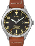 Timex 40mm Waterbury Quartz Watch with Black Dial and INDIGLO Night-Light #TW2P84000ZA