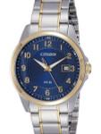 Citizen Elegant Blue Dial, Quartz Dress Watch with Matching Bracelet #BI5044-57L