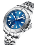 PHOIBOS Blue Voyager 2.0 Automatic Dive Watch with Double Dome AR Sapphire Crystal #PY026B