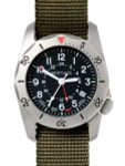 Bertucci A-2TR Vintage-Styled GMT Dual Time Watch with Titanium Case #12118