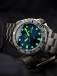 Islander Automatic Dive Watch with Bracelet, Double-Domed AR Sapphire Crystal, and Embossed Ceramic Bezel Insert #ISL-18