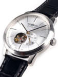 Graf Zeppelin Flatline Automatic Open-Heart Watch with Small Seconds #7364-4