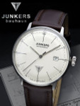 Junkers Bauhaus Swiss Automatic Watch with Domed Hesalite Crystal #6050-5