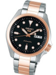 Seiko 5 Sports 24-Jewel Automatic Watch with Black Dial and Two-Tone Bracelet #SRPE58