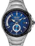 Seiko Coutura Radio Sync, Solar Powered, Dual Time, World Time Watch #SSG019