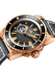 PHOIBOS Leviathan 500-Meter Automatic Dive Watch with Bronze Case, DD AR Sapphire Crystal #PY027C