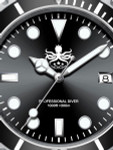 PHOIBOS 300-Meter Swiss Quartz Dive Watch with Sapphire Crystal #PX002C