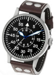 Laco Dortmund Type B Dial Swiss Mechanical Pilot Watch with Domed Sapphire Crystal #861751