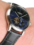 Graf Zeppelin Flatline Automatic Open-Heart Watch with Small Seconds #7364-3