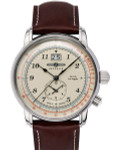Graf Zeppelin Dual Time, Big Date Watch with Pulsometer Scale #8644-5