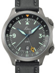 Laco Frankfurt Swiss Automatic GMT Dual-Time Pilot Watch with Double-Dome AR Sapphire Crystal #862121