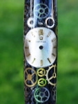 Artisan Crafted Collectable Pen made with an Omega dial and assorted gears, cogs, screws and bridges #WPP201BP