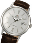Orient Automatic Dress Watch with White Dial, Applied Silver Hour Markers #ER24005W
