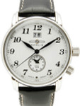 Graf Zeppelin German Made, Dual Time, Big Date Watch with Two Crowns.  #7644-1