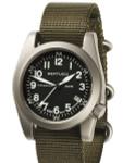 Bertucci  A-11T Americana Titanium Watch with Olive Nylon Strap #13331