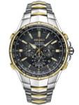 Seiko Coutura Radio Sync Solar Chronograph Two-Tone Mens Watch #SSG010