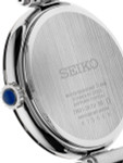 Seiko Ladies Quartz Dress Watch with with 12 Diamond Hour Markers, Mother of Pearl Dial #SRZ529