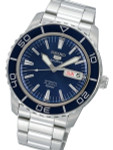 Seiko 41mm Sports 5, 23-Jewel Automatic Watch with Day and Date Window #SNZH53K1