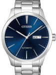 Citizen Automatic Mens Watch with Blue Dial - Stainless Steel Bracelet #NH8350-83L