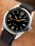 Islander Automatic Watch with Leather Strap and an AR Dome Sapphire Crystal #ISL-53