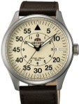 Orient 21-Jewel Automatic Aviator Flight Watch with Brown Leather Strap #ER2A005Y