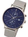 Boccia Mens Two-Eye Quartz Chronograph Watch with Blue Dial and 42.5mm Titanium Case #3752-05