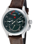 Red Star Dual-Time Automatic Watch with 42-Hour Power Reserve, Retrograde Date #6202G-2545B