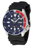 Seiko Automatic Dive Watch with Offset Crown and Rubber Dive Strap #SKX009K1
