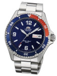 Orient Pepsi-Style Automatic Dive Watch with SS Bracelet #AA02009D
