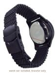 Squale 20mm Deluxe Black PVD Mesh Bracelet #1521-Mesh-PVD