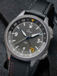 Laco Frankfurt Swiss Automatic GMT Dual-Time Pilot Watch with Double-Dome AR Sapphire Crystal #862120
