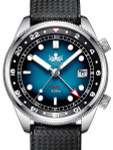PHOIBOS Eagle Ray 300-Meter Dual-Time GMT Dive Watch with Double Dome AR Sapphire Crystal #PX023B