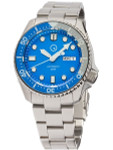 Islander Automatic Dive Watch with Solid-Link Bracelet, AR Sapphire Crystal, and Luminous Sapphire Bezel Insert #ISL-09