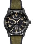 Seiko 41mm Big Date Quartz Sport Watch with Carbon Fiber Style Dial #SUR325