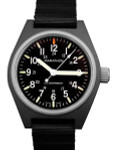 Marathon Swiss Made Quartz Military General Purpose Watch with MaraGlo Green Illumination #WW194009-BK