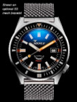 Squale Matic 600 meter Professional Swiss Automatic Dive watch with 44mm Satin Case #Matic-Black-Sat