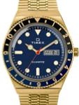 Q Timex Reissue of 1970's 38mm Yellow Goldtone Bracelet Watch #TW2U61400ZV