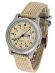 Seiko 5 Military Tan Dial Automatic Watch with Tan Canvas Strap #SNK803K2