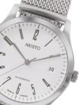 Aristo 4H132 Dessau Swiss Automatic Dress Watch on Mesh Bracelet