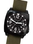Bertucci E-1S Ballista 44mm Black Ion Field Watch with a Dome Sapphire Crystal #13601