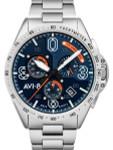 AVI-8 Silver Oak Blakeslee Pilot Chronograph Watch #AV-4077-22