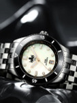 PHOIBOS Wave Master 300-Meter Automatic Dive Watch with MOP Dial, AR Sapphire Crystal #PY010D