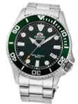 Orient Green Bezel Insert, Automatic Dive Watch with Sapphire Crystal #RA-AC0K02E10B