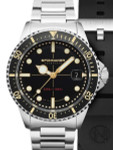 Spinnaker Black Tesei Mille Metri 1000-Meter Swiss Automatic Dive Watch #SP-5090-11