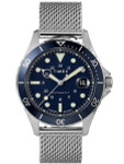 Timex 41mm Navi XL 21-Jewel Automatic Watch with Stainless Steel Mesh Bracelet and Blue Dial #TW2U38200ZV
