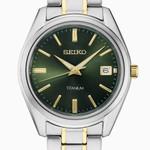 Seiko 40mm Titanium Quartz Watch with Sapphire Crystal and Titanium Bracelet SUR377